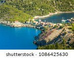 greece  kefalonia island  assos. | Shutterstock . vector #1086425630