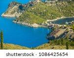 greece  kefalonia island  assos. | Shutterstock . vector #1086425654