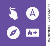 filled set of 4 direction icons ... | Shutterstock .eps vector #1086432449
