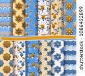 set of abstract vector paper... | Shutterstock .eps vector #1086432899