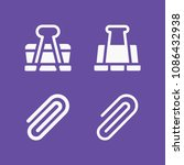 filled set of 4 clip icons such ... | Shutterstock .eps vector #1086432938