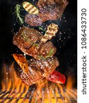 kettle grill with hot... | Shutterstock . vector #1086433730