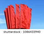 many red flags waving in the... | Shutterstock . vector #1086433940