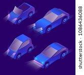 vector set of isometric urban...   Shutterstock .eps vector #1086436088