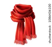 vector 3d realistic silk red... | Shutterstock .eps vector #1086436100