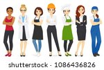 different woman professions set ... | Shutterstock .eps vector #1086436826
