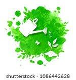 vector illustration of green... | Shutterstock .eps vector #1086442628