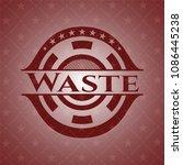 waste red emblem. retro   Shutterstock .eps vector #1086445238