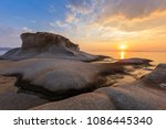 beautiful kakoudia beach at... | Shutterstock . vector #1086445340