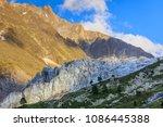 argentiere glacier view ... | Shutterstock . vector #1086445388
