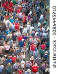 Small photo of Toronto, Canada - August 22, 2015: Crowds at the Canadian National Exhibition (CNE). The iconic exhibition saw over 1.5 million visitors last year.
