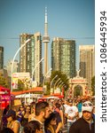 Small photo of Toronto, Canada - August 22, 2015: The city of Toronto hosts the Canadian National Exhibition annually. The iconic exhibition saw over 1.5 million visitors last year.