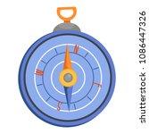 compass icon. flat illustration ...   Shutterstock . vector #1086447326