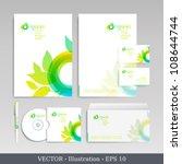 template for business artworks. ... | Shutterstock .eps vector #108644744