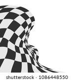 race flag checkered flag vector ... | Shutterstock .eps vector #1086448550