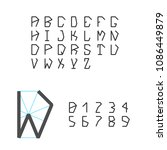pentagonal geometric typeface....   Shutterstock .eps vector #1086449879