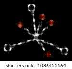 big bang halftone vector... | Shutterstock .eps vector #1086455564