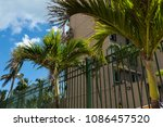 tropical real estate background ... | Shutterstock . vector #1086457520