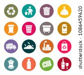 garbage icon set | Shutterstock .eps vector #1086459620