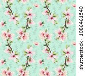 seamless pattern with almond... | Shutterstock . vector #1086461540