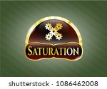 gold badge with mechanism... | Shutterstock .eps vector #1086462008