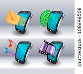 mobile phone icons   Shutterstock .eps vector #108646508
