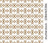 ligature pattern gold seamless...   Shutterstock .eps vector #1086465386