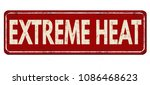 extreme heat vintage rusty...   Shutterstock .eps vector #1086468623
