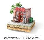 business concept. press kiosk... | Shutterstock . vector #1086470993