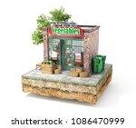 business concept. vegetables...   Shutterstock . vector #1086470999
