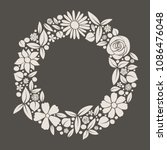 background with vintage flowers ... | Shutterstock .eps vector #1086476048