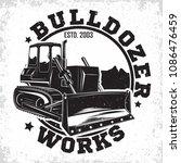 excavation work logo design ...   Shutterstock .eps vector #1086476459