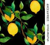 watercolor seamless pattern... | Shutterstock . vector #1086493349