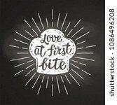 chef's toque chalk silhoutte...   Shutterstock .eps vector #1086496208
