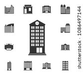 residential building icon.... | Shutterstock .eps vector #1086497144