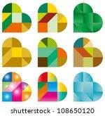 heart puzzle | Shutterstock .eps vector #108650120