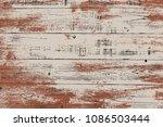 grunge wood overlay horizontal... | Shutterstock .eps vector #1086503444