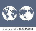world map  western and eastern...   Shutterstock .eps vector #1086508934