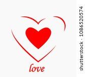 heart icon isolated on white... | Shutterstock .eps vector #1086520574