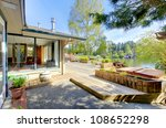 large deck with house and... | Shutterstock . vector #108652298