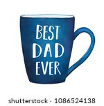 "dark blue mug with text phrase ""...   Shutterstock . vector #1086524138"