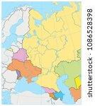 eastern europe political map.... | Shutterstock .eps vector #1086528398