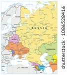 eastern europe political map... | Shutterstock .eps vector #1086528416