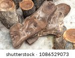 view from the top of the logs ... | Shutterstock . vector #1086529073