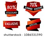 summer sale isolated vector... | Shutterstock .eps vector #1086531590