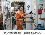marine engineer officer... | Shutterstock . vector #1086532400