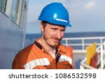marine deck officer or chief... | Shutterstock . vector #1086532598