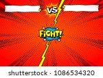 comic book versus template... | Shutterstock .eps vector #1086534320