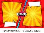 comic book versus template...   Shutterstock .eps vector #1086534323
