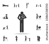 father with a baby icon.... | Shutterstock .eps vector #1086538550